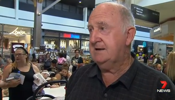 Norm had plenty to say in support of the mums! Photo: 7 News