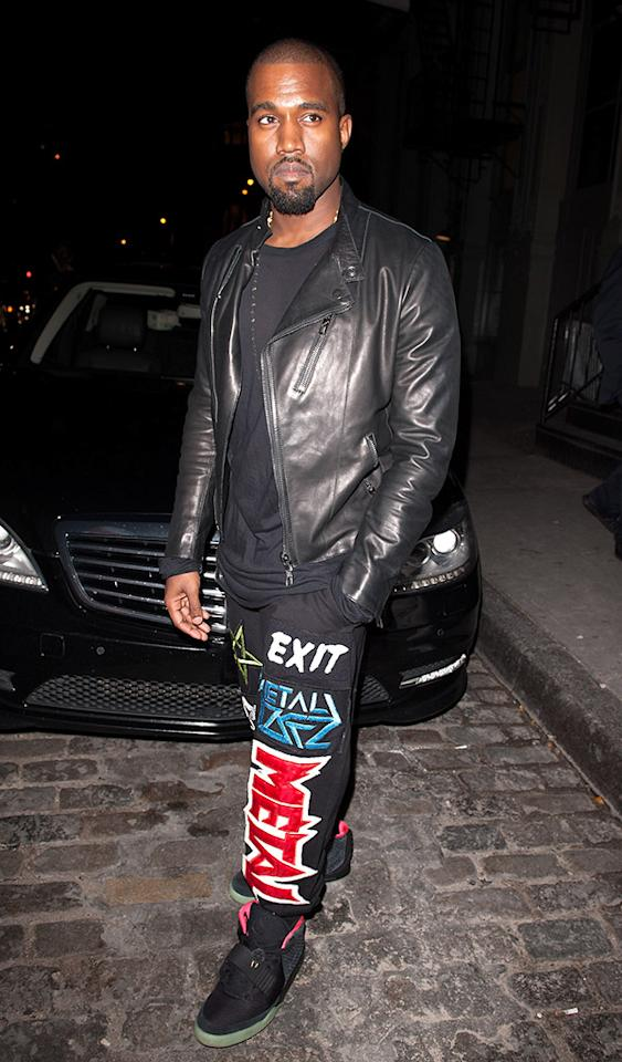 NEW YORK, NY - OCTOBER 24: Kanye West attends a cocktail party at Versace Boutique on October 24, 2012 in New York City. (Photo by D Dipasupil/Getty Images)