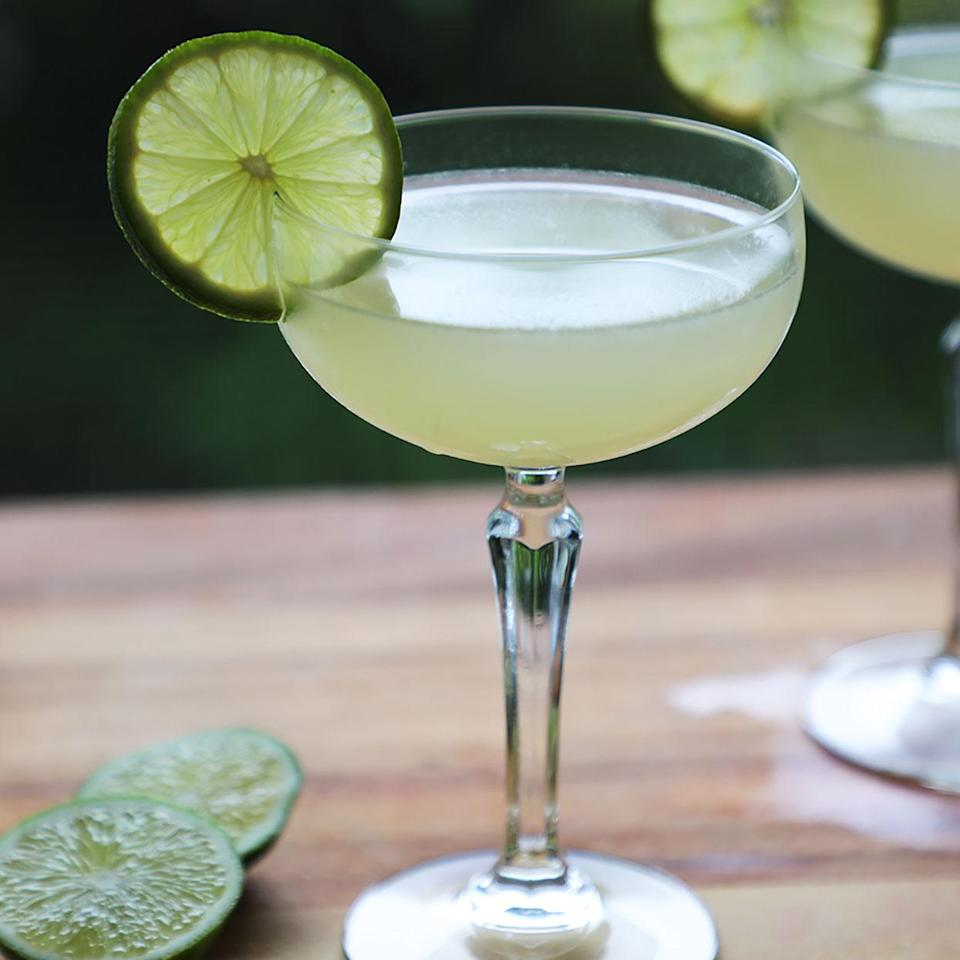 <p>If you're at home and looking for a quick tropical happy hour escape, this strikingly simple daiquiri is just what the doctor ordered. All you need is rum, fresh lime juice and sugar to feel those beachy vibes in the comfort of your own home.</p>