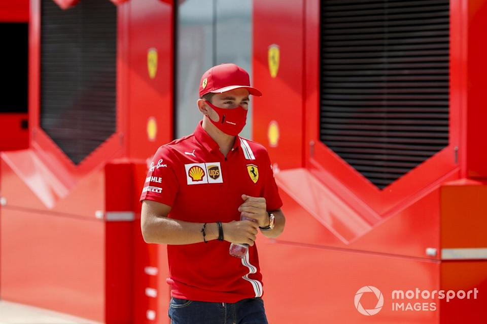 "Charles Leclerc, Ferrari in the paddock<span class=""copyright"">Steven Tee / Motorsport Images</span>"