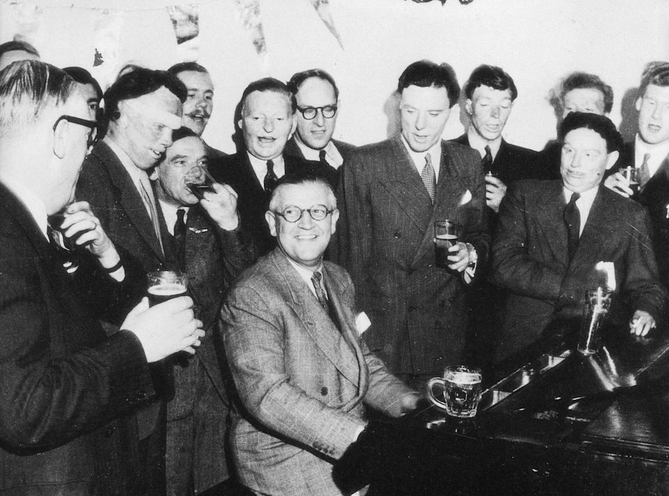 The surgeon fostered comradeship among burns victims by encouraging singing together (RAF Benevolent Fund/PA)
