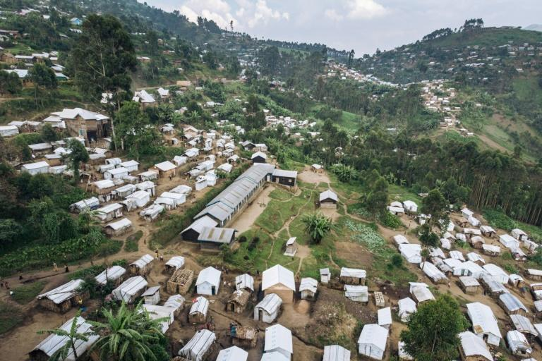 The Kalinga camp in Masisi Territory, eastern DR Congo, houses nearly 9,000 people who have fled their homes (AFP Photo/ALEXIS HUGUET)