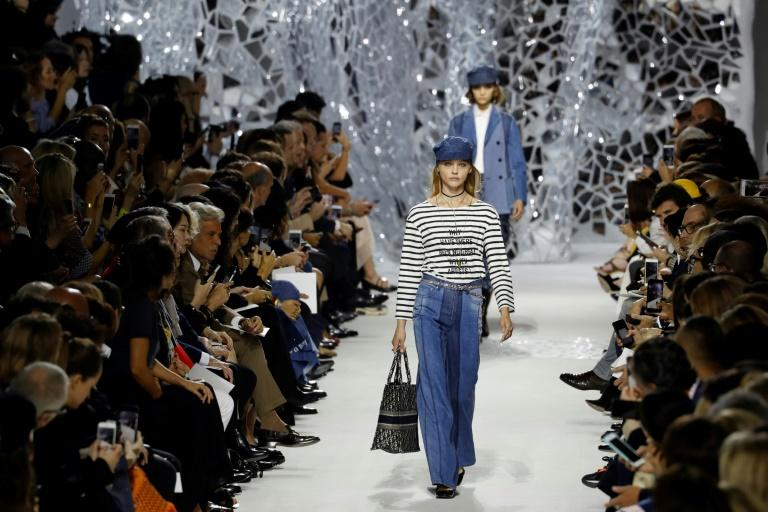 "A Breton jumper with the slogan ""Why Have There Been No Great Women Artists?"" led Dior's spring-summer collection at Paris Fashion Week"