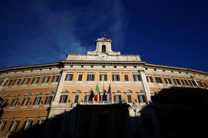 A general view of Montecitorio Palace, the lower house of Parliament, in Rome