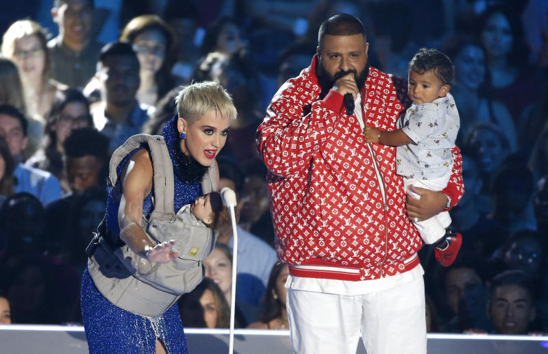 DJ Khaled and Asahd even got to make an onstage appearance with Katy Perry duringtheshow. (Mario Anzuoni / Reuters)