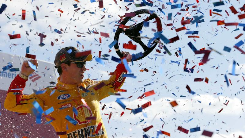 Joey Logano's late gamble pays off with win