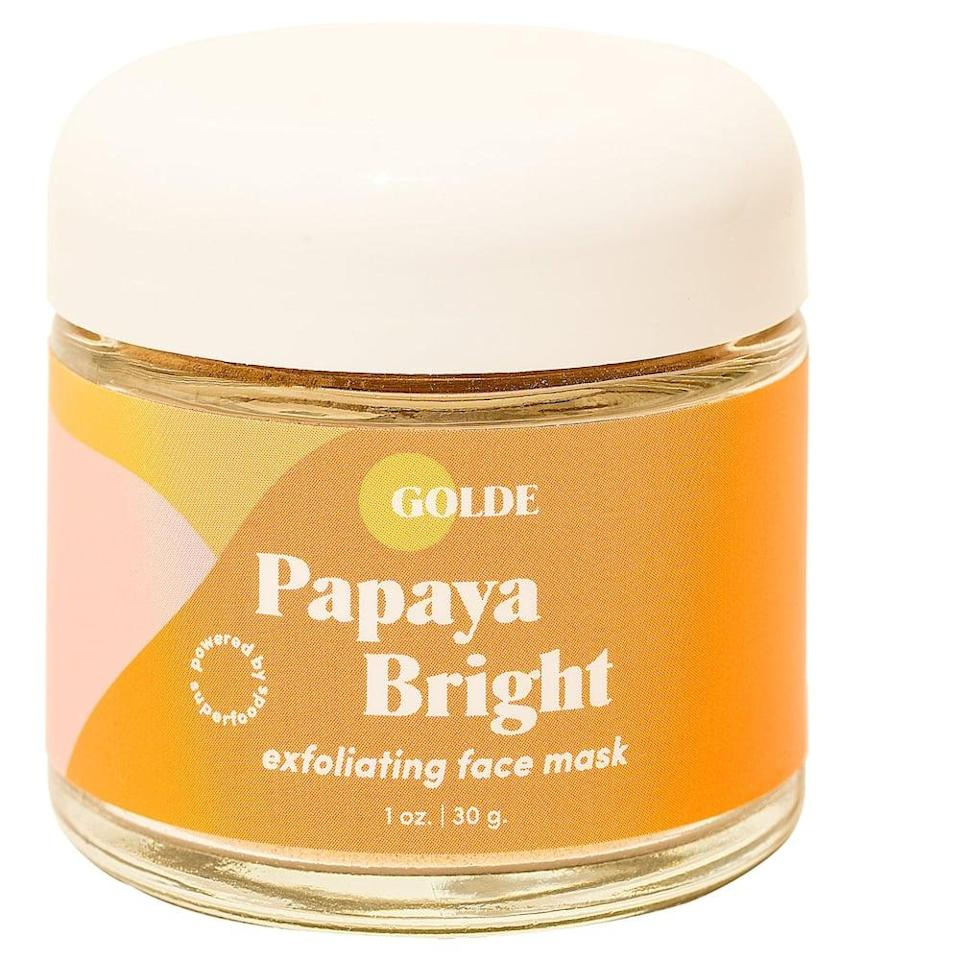 <p>If you need a midweek pick-me-up, the <span>Golde Papaya Bright Face Mask</span> ($34) will make you glow!</p>