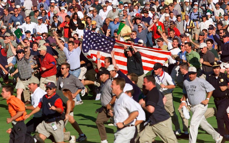 USA fans at the 1999 Ryder Cup hurled abuse at the European players - REUTERS