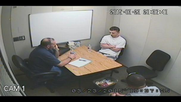 PHOTO: In video recordings of Aaron Quinn's interview, detective Mathew Mustard could be heard asking if there was 'tension in the relationship' with Denise Huskins and if Quinn was 'cheating.' (Vallejo Police Department)