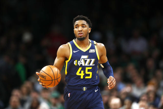 """<a class=""""link rapid-noclick-resp"""" href=""""/nba/players/5826/"""" data-ylk=""""slk:Donovan Mitchell"""">Donovan Mitchell</a> thanked fans for their support after his positive coronavirus test. (Photo by Omar Rawlings/Getty Images)"""