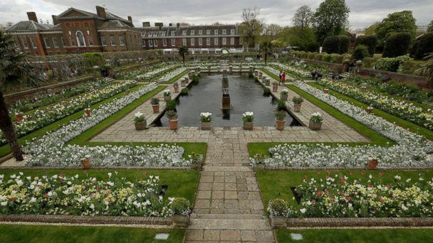 PHOTO: An overview shows The White Garden, a new memorial garden which marks 20 years since the death of Britain's Princess Diana, at Kensington Palace in London, April 13, 2017. (Matt Dunham/AP Photo)