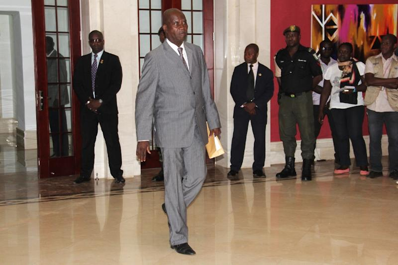 Guinea Bissau's newly appointed Prime Minister Carlos Correia, 81, arrives at the presidential office in Bissau on September 17, 2015 (AFP Photo/Alfa Ba)