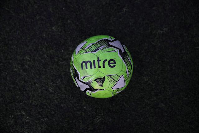 "A football is seen on an astro-turf pitch in south-east London, Britain, May 21, 2018. REUTERS/Hannah McKay SEARCH ""FOOTBALL GLOBAL"" FOR THIS STORY. SEARCH ""WIDER IMAGE"" FOR ALL STORIES."