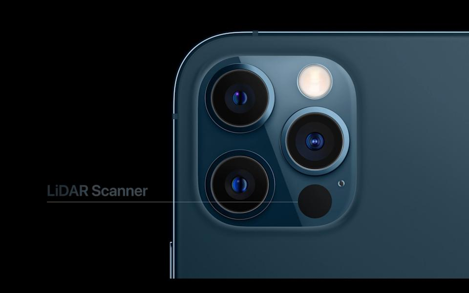The LIDAR scanner on the iPhone 12 Pro - Apple