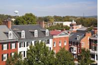 """<p>Less than one hour from Washington, D.C. and Baltimore is <a href=""""https://go.redirectingat.com?id=74968X1596630&url=https%3A%2F%2Fwww.tripadvisor.com%2FTourism-g60903-Frederick_Maryland-Vacations.html&sref=https%3A%2F%2Fwww.thepioneerwoman.com%2Fjust-for-fun%2Fg34836106%2Fsmall-american-town-destinations%2F"""" rel=""""nofollow noopener"""" target=""""_blank"""" data-ylk=""""slk:this small town"""" class=""""link rapid-noclick-resp"""">this small town</a> that's surrounded by mountains, wineries and orchards. Downtown has even been designated as the Arts & Entertainment District, where you can find live music, dancing, you name it.</p>"""