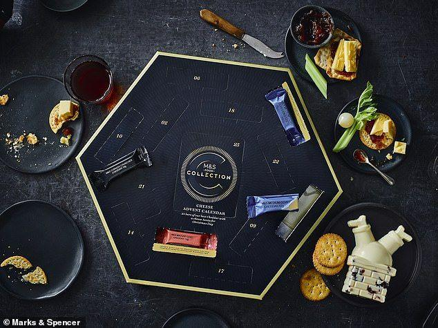 <p>This brand-new cheese advent from M&S is filled with 24 individually wrapped cheddar slices and a specially Santa-shaped cheese to enjoy on Christmas day. How very cute?</p><p><strong>£15.00, Available only in M&S stores</strong></p>