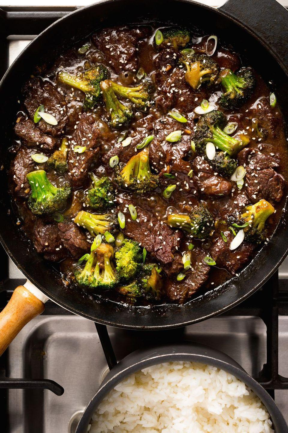 """<p>With an unbelievably delicious sauce, this beef and broccoli rivals the best takeaway.</p><p>Get the <a href=""""https://www.delish.com/uk/cooking/recipes/a28756372/beef-and-broccoli-noodles-recipe/"""" rel=""""nofollow noopener"""" target=""""_blank"""" data-ylk=""""slk:Beef and Broccoli Stir Fry"""" class=""""link rapid-noclick-resp"""">Beef and Broccoli Stir Fry</a> recipe.</p>"""