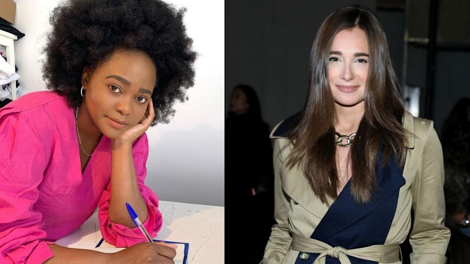 Designer Ngoni Chikwenengere has accused Danielle Bernstein of copying her design for her latest collection. (Images via Instagram/ngoni and Getty Images)