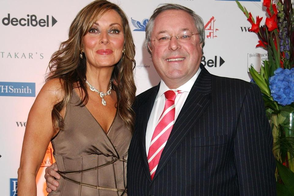Carol Vorderman and Richard Whiteley arrive for the British Book Awards, held at the Grosvenor House hotel in 2005. (PA)