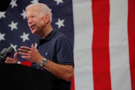 Democratic 2020 U.S. presidential candidate Biden's campaign stop in Londonderry