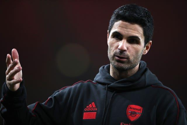 Arsenal are ninth in the Premier League under Mikel Arteta