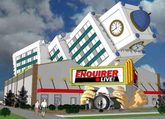 The theme park will explore stories that have been covered by the National Enquirer (National Enquirer Live)