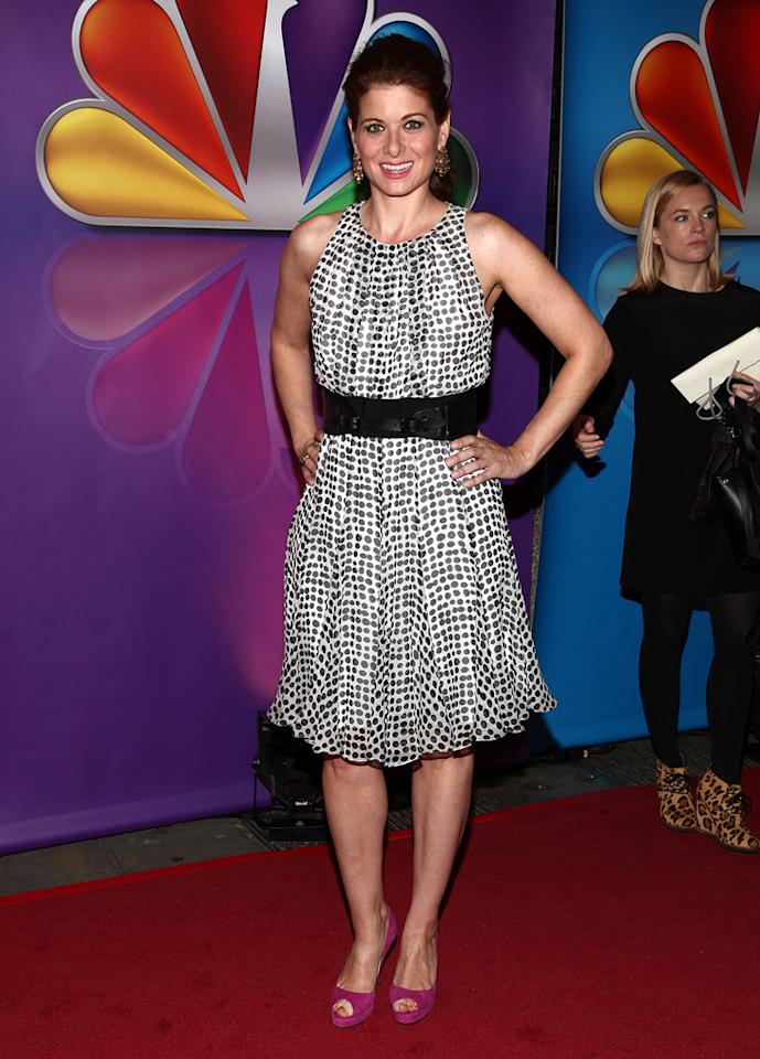 """Debra Messing (""""Smash"""") attends NBC's 2012 Upfront Presentation at 51st Street on May 14, 2012 in New York City."""