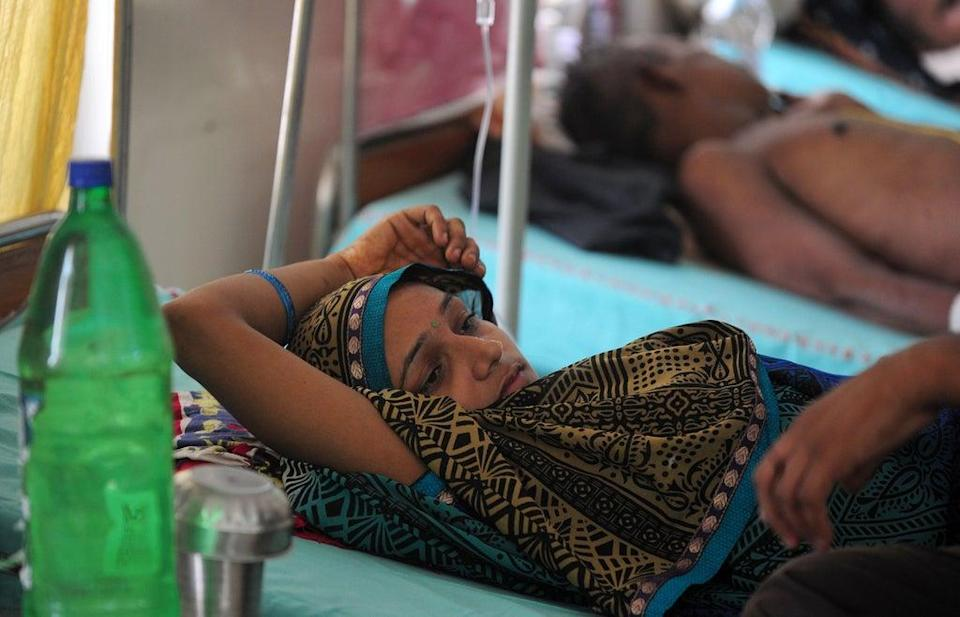 At least 60 people have died due to the outbreak in the worst-hit city of Firozabad, in western Uttar Pradesh  (Getty Images)