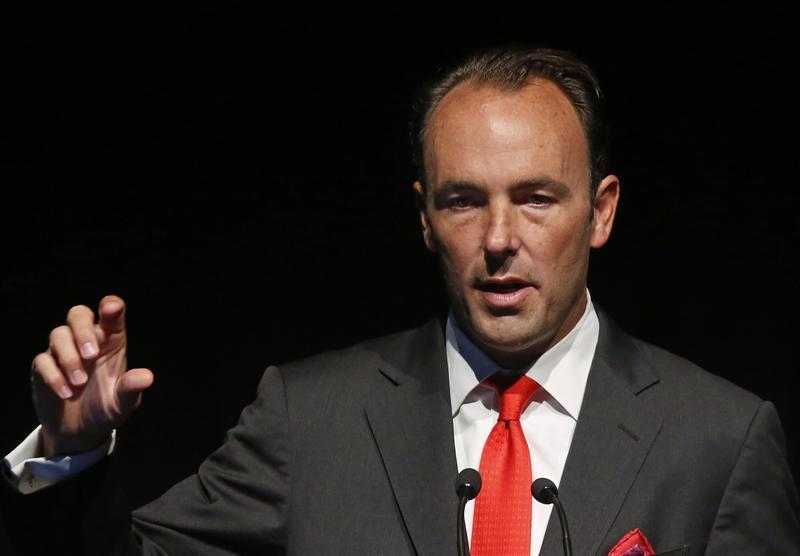 Kyle Bass, founder and principal of Hayman Capital Management, L.P., speaks at the Sohn Investment Conference in New York, May 8, 2013. REUTERS/Brendan McDermid