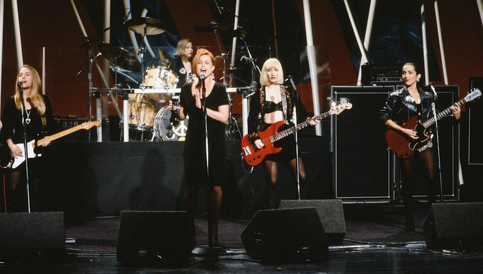 The Go-Go's perform in 1990.