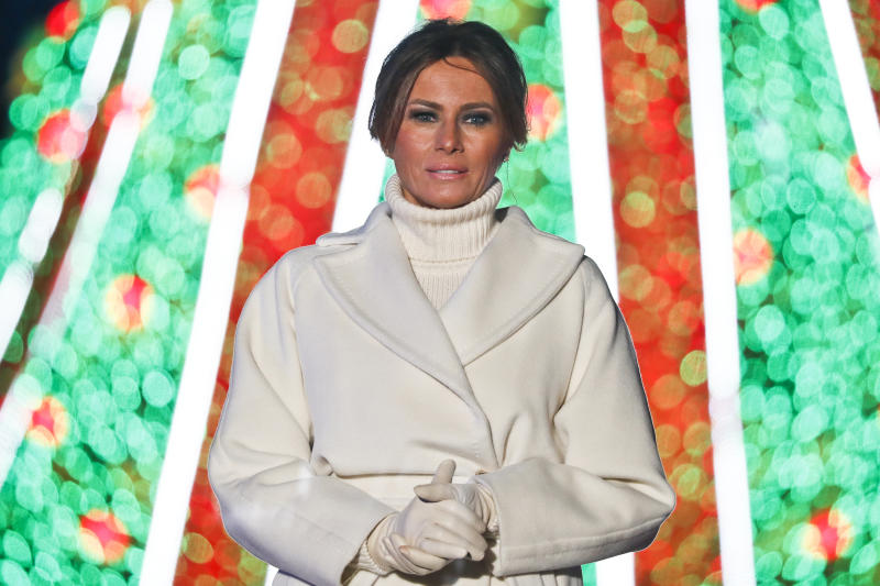WASHINGTON, DC - NOVEMBER 28: First lady Melania Trump attends the 96th annual National Christmas Tree Lighting at The Ellipse in President's Park on November 28, 2018 in Washington, DC. (Photo by Paul Morigi/Getty Images)