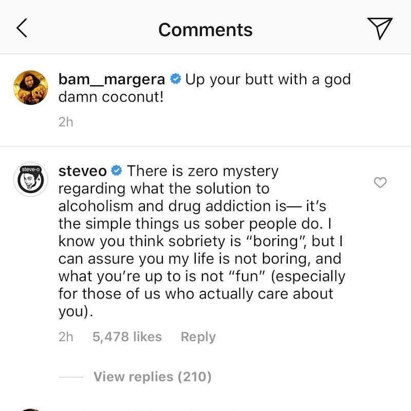 Bam Margera Continues Public Breakdown As Steve-O Reaches Out to Help