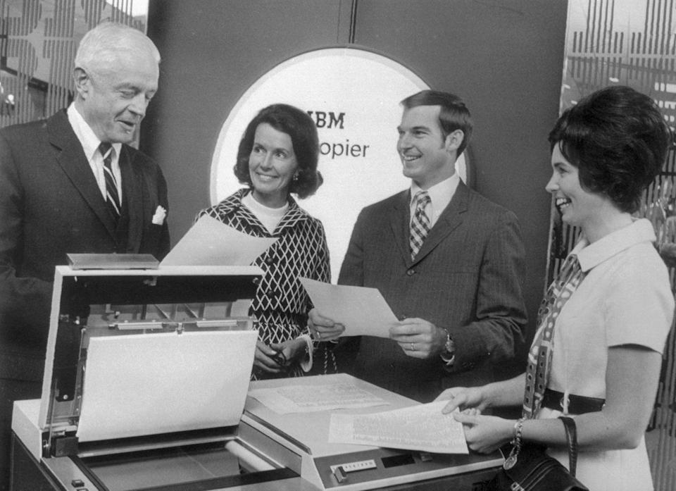 """<p>In 1970, IBM began developing photocopiers for office use. However, the improved system they launched later <a href=""""https://www.ibm.com/ibm/history/history/year_1970.html"""" rel=""""nofollow noopener"""" target=""""_blank"""" data-ylk=""""slk:allowed for more seamless use"""" class=""""link rapid-noclick-resp"""">allowed for more seamless use</a>. </p>"""