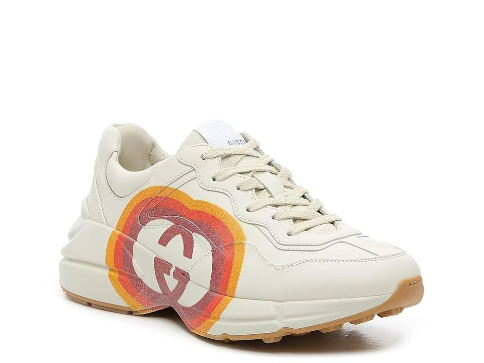 <p>These <span>Gucci Rhyton Sneaker</span> ($650) come with a chunky sole and a retro logo.</p>