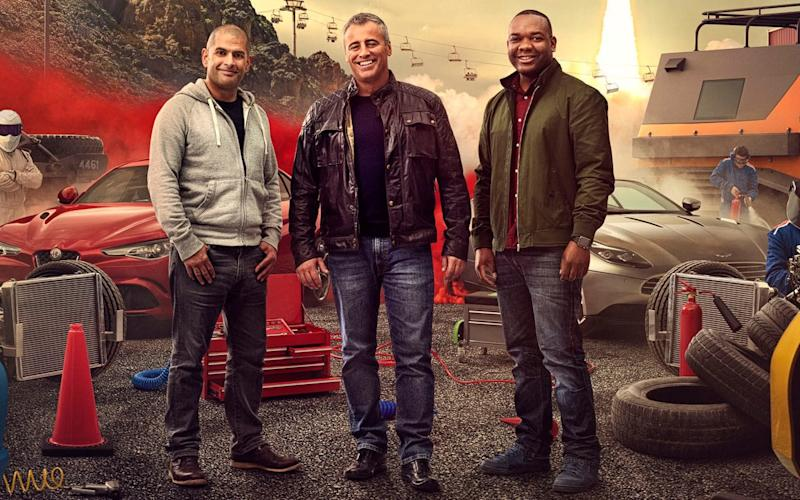 Chris Harris, left, with Top Gear co-stars Matt LeBlanc, middle, and Rory Reid - Press Association Images