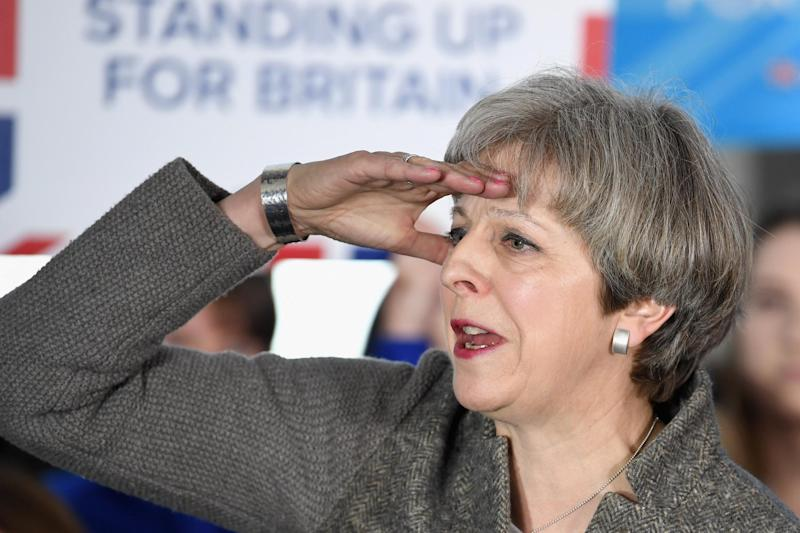Theresa May has come under fire for failing to engage with the general public during the election campaign: Getty
