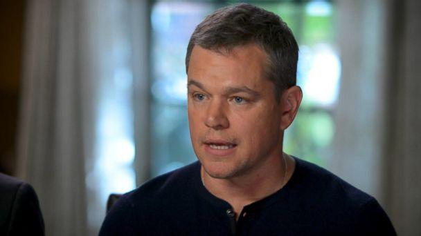 PHOTO: Matt Damon responds to the Harvey Weinstein scandal that is rocking Hollywood in an interview with ABC News' Michael Strahan. (ABC News)