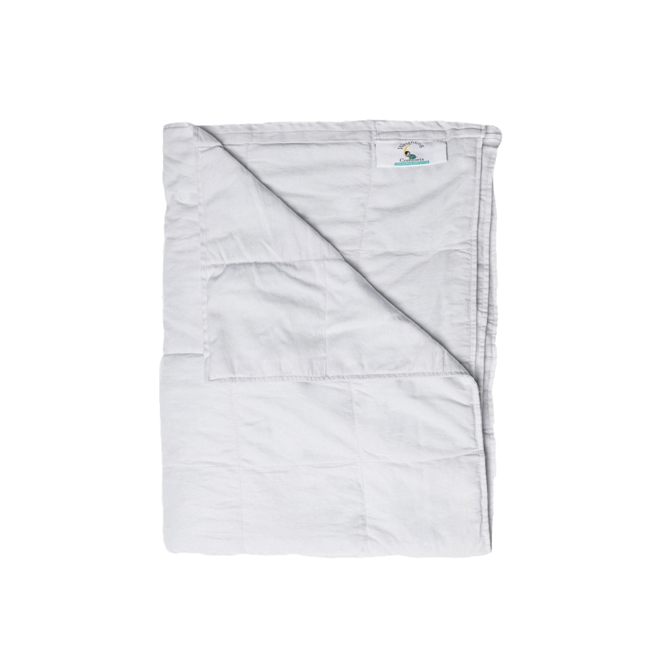 """<h3>The 9-to-5 Dad</h3><p>For the dad that's all work and rarely any play, gift him something that's helped you and countless friends relax and get all the winks needed for maximum daytime output — a weighted blanket. Weighting Comforts makes the Rolls-Royce of heavy covers, and this Coolmax version is perfect for summer months. We're not saying a blanker will add hours to his day, but if he's well-rested, it may give him more energy to spend on things he loves outside of work come weekend.</p><br><br><strong>Weighting Comforts</strong> Coolmax Weighted Blanket, $219, available at <a href=""""https://www.weightingcomforts.com/collections/coolmax/products/cool-max-weighted-blanket-grey"""" rel=""""nofollow noopener"""" target=""""_blank"""" data-ylk=""""slk:Weighting Comforts"""" class=""""link rapid-noclick-resp"""">Weighting Comforts</a>"""