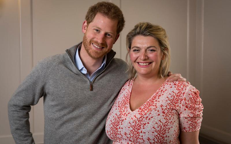Prince Harry and the Telegraph's Bryony Gordon - Credit: Andrew Crowley