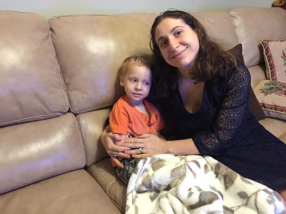 Talia Tallman and her son Escher, who has cancer, missed their flight, and Tallman says that Spirit Airlines wasn't kind about it. (Photo: Facebook/Talia Tallman)