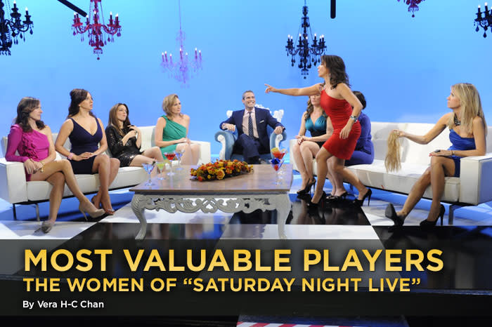 """One thing <a href=""""/saturday-night-live/show/194"""">""""Saturday Night Live""""</a> doesn't have to worry about: lines at the women's restroom. After 35 years, and just in time for November sweeps, the late-night sketch comedy show recognizes their better halves. Historically, comediennes have made up less than a third of the not-ready-for-primetime players. The NBC show didn't start out that way: In 1975, the gender split was 50-50, but then the ladies lost ground. At the lowest point, women were afterthoughts, but some much-needed estrogen shots dragged """"SNL"""" into the 21st century and into a new golden age. But the Season 36 looks like a throwback, with a 10:4 ratio — marginally better than the behind-the-scenes 20:5 male-female writers. Looks like it is indeed time to salute the most memorable ladies of """"SNL."""""""