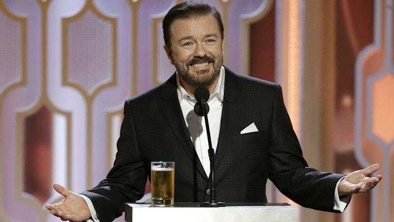 Ricky Gervais Is as Unpredictable as Ever in 2020 Golden Globes Promo