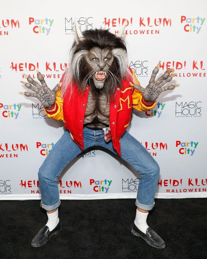 """<p>Heidi brought the 1982 Michael Jackson video to life with this too-real werewolf costume inspired by """"Thriller.""""</p>"""
