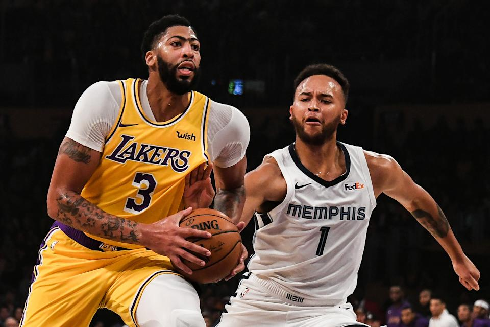 Anthony Davis had a huge night against the Grizzlies and set a Lakers record in the process. (Richard Mackson/Reuters)