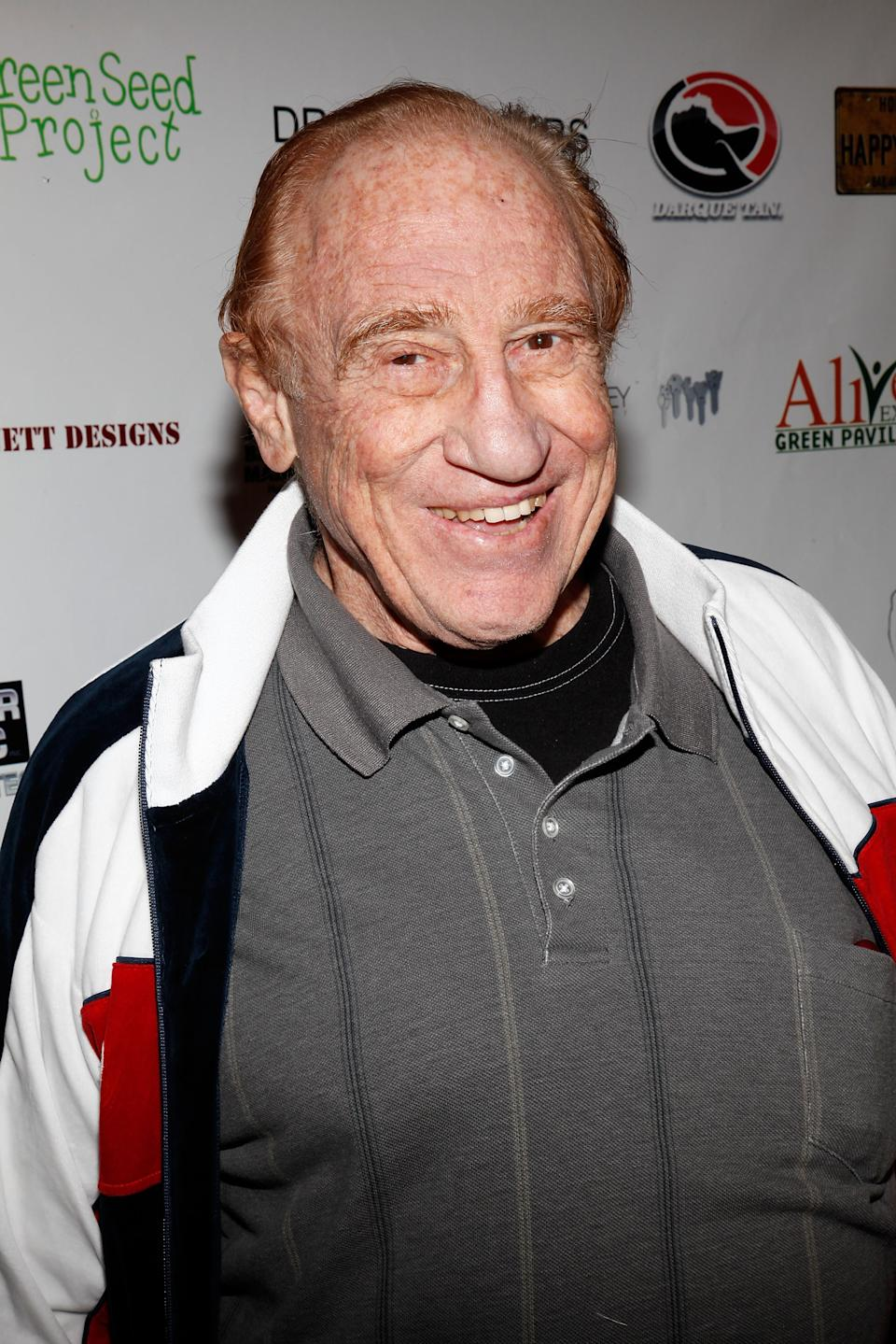 """HOLLYWOOD - FEBRUARY 21:  Gene LeBell  attends """"Changing Hands"""" premiere at The Happy Ending Bar & Restaurant on February 21, 2010 in Hollywood, California.  (Photo by Brian To/FilmMagic)"""