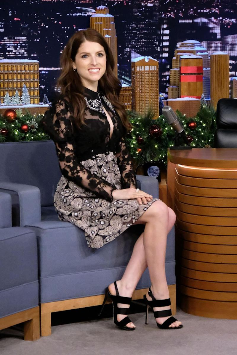 Anna Kendrick told Jimmy Fallon she escaped a fire before appearing on his show. Source: Getty