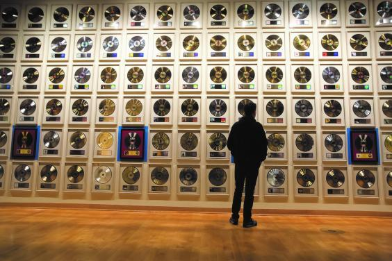 The Gold Record Wall at the Country Music Hall of Fame (Visit Music City)