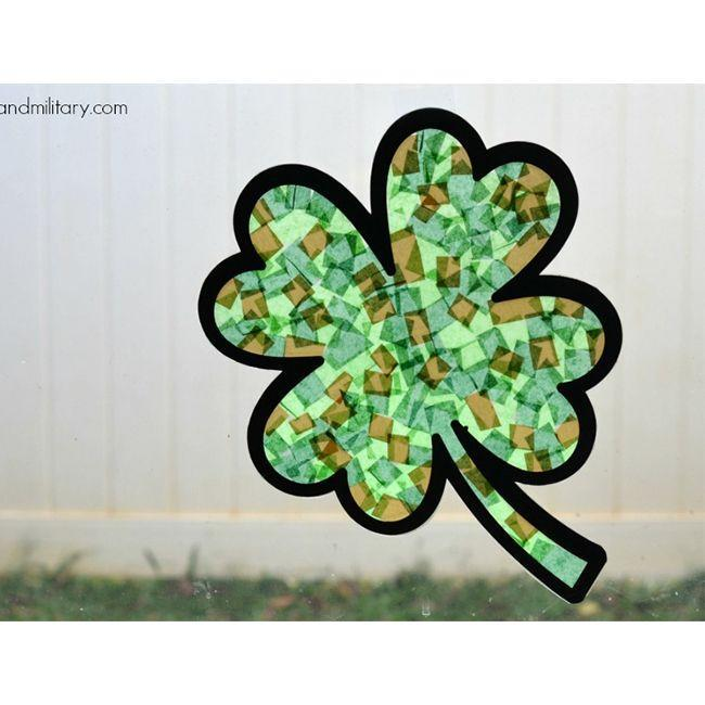 """<p>Unlike other St. Patrick's Day crafts, this one isn't too messy, and the pieces that do fall on the floor could easy be picked up by hand or vacuumed, making it a great craft to do with the whole family.</p><p><em>Get the tutorial at <a href=""""https://threelittleferns.com/2016/03/four-leaf-clover-sun-catcher.html"""" rel=""""nofollow noopener"""" target=""""_blank"""" data-ylk=""""slk:Three Little Ferns"""" class=""""link rapid-noclick-resp"""">Three Little Ferns</a>.</em></p>"""