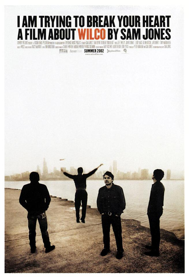 "<a href=""http://movies.yahoo.com/movie/1808412048/info"">I Am Trying to Break Your Heart</a> (2002): Visually similar to ""Don't Look Back"" with its grainy, black-and-white cinematography, this documentary began life as an up-close depiction of the Chicago band Wilco as it stood on the brink of stardom. It ended up being an indictment of the corporations that run the recording industry. Led by singer-songwriter Jeff Tweedy, the band records its fourth album, ""Yankee Hotel Foxtrot,"" only to reach an impasse with the label over its content. Frustrations lead to infighting. But director Sam Jones' film also functions beautifully in its performance scenes, whether in the intimacy of rehearsal or on stage, where Wilco enjoys a cult-like fan following."