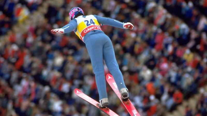 Eddie 'The Eagle' Edwards was the plucky underdog at the Winter Olympics in 1998 (Getty Images)